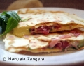 Home-made Piadina with Prosciutto, Stracchino and Rocket