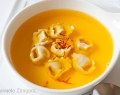 Chicken and Saffron Consommé with Tortellini