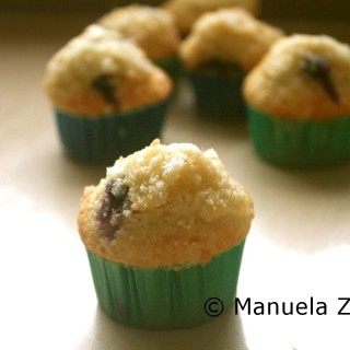Light and fluffy blueberry muffins with a lemon sugar crust topping