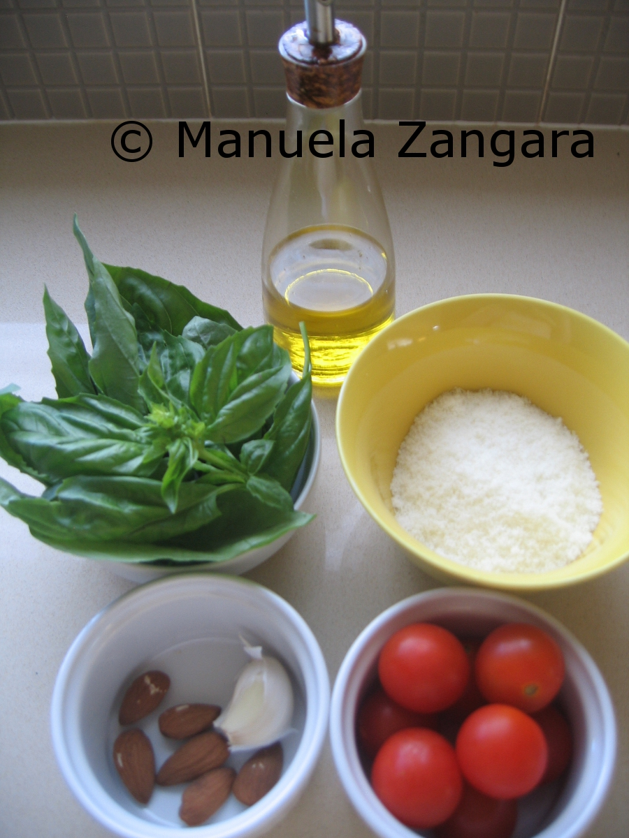 Ingredients for Busiati al pesto trapanese