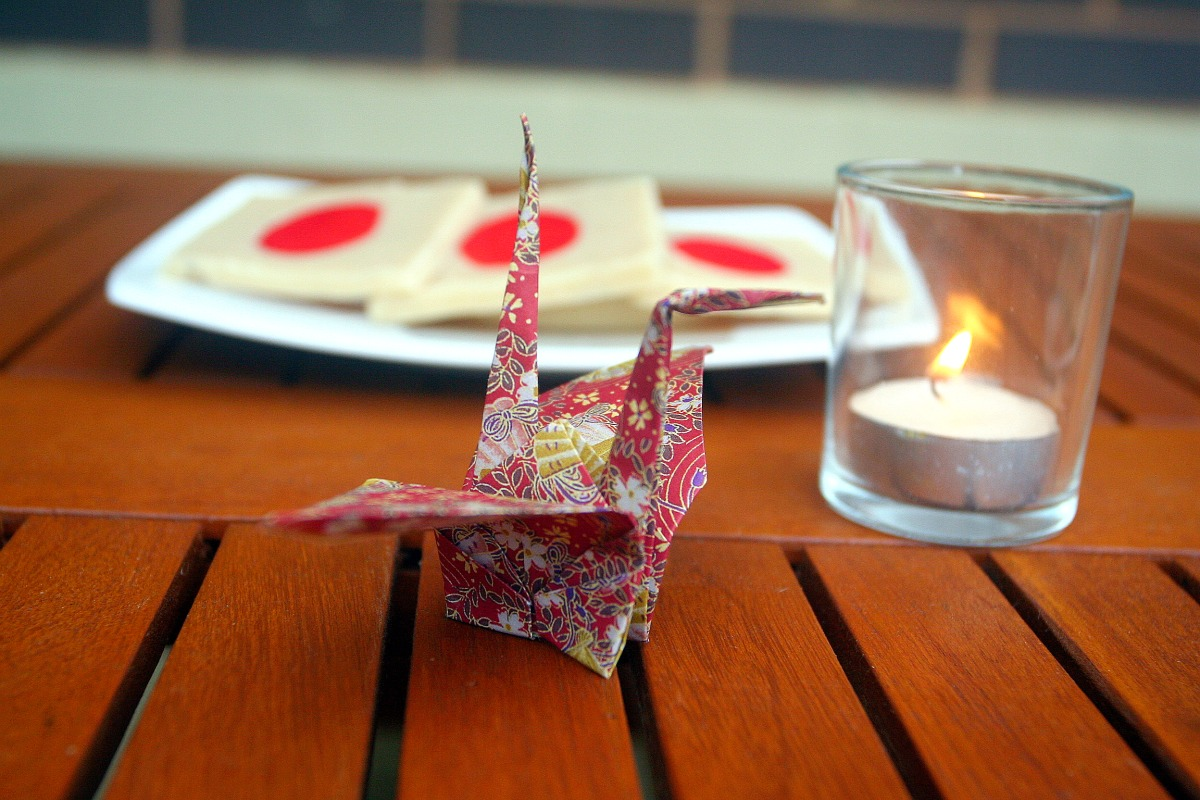 Paper Crane and Marzipan flags