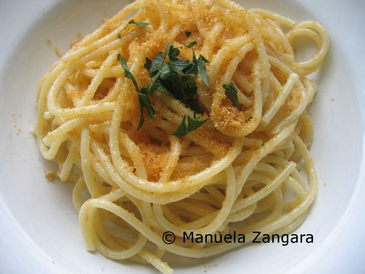 Spaghetti with mullet roe