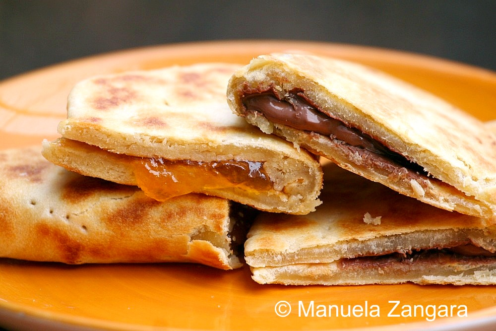 Piadine with sweet fillings