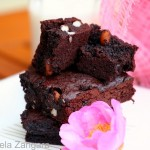 Dark Chocolate and Macademia Nut Brownies