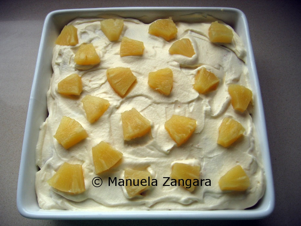 Pineapple layered dessert