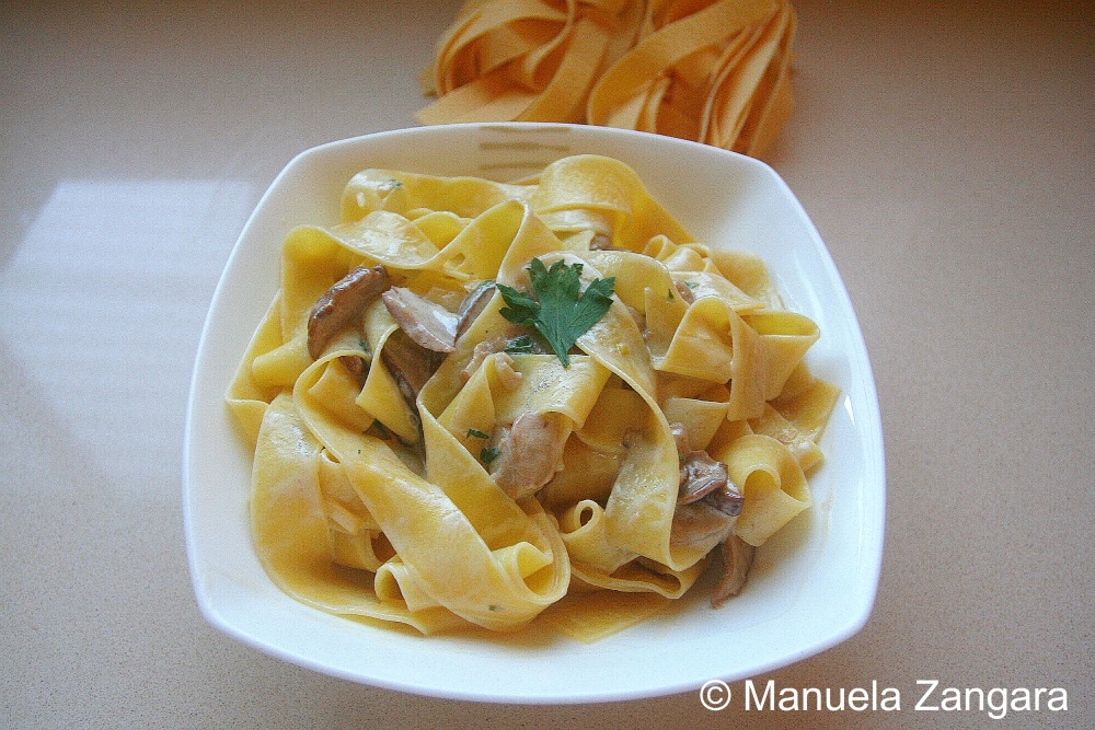 Pappardelle with porcini mushrooms