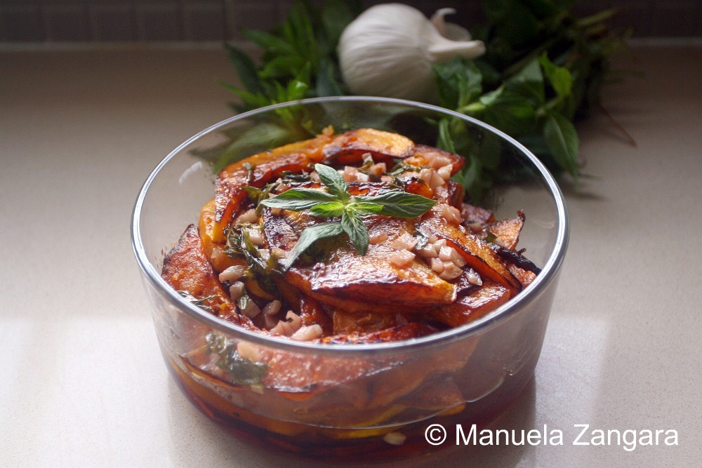 Sweet and Sour Pumpkin With Garlic and Mint