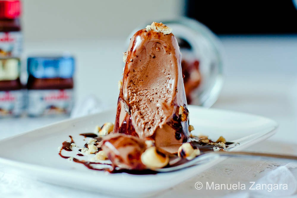 Double Nutella Kulfi with toasted hazelnuts