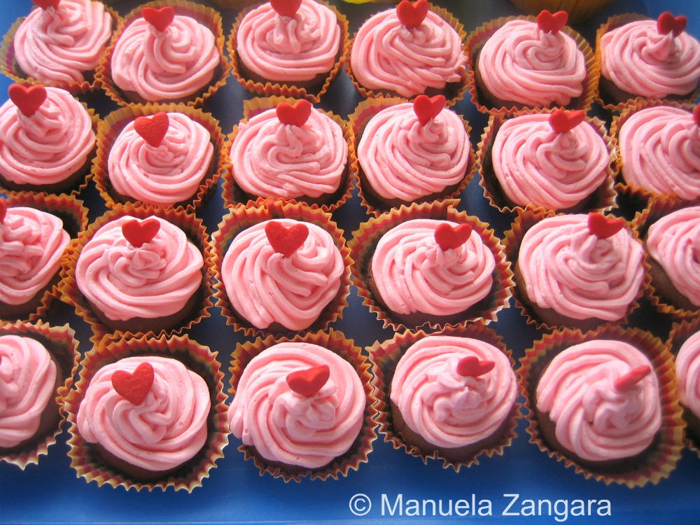 Chocolate and Raspberry Mini Cupacakes