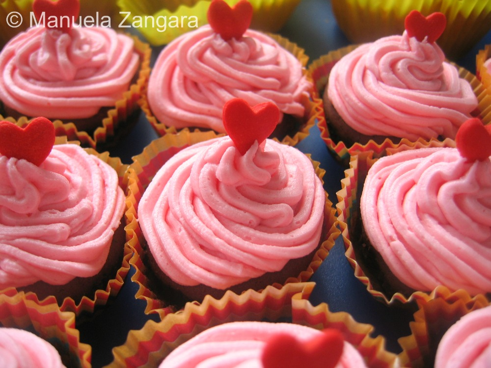 Chocolate and Raspberry Mini Cupcakes