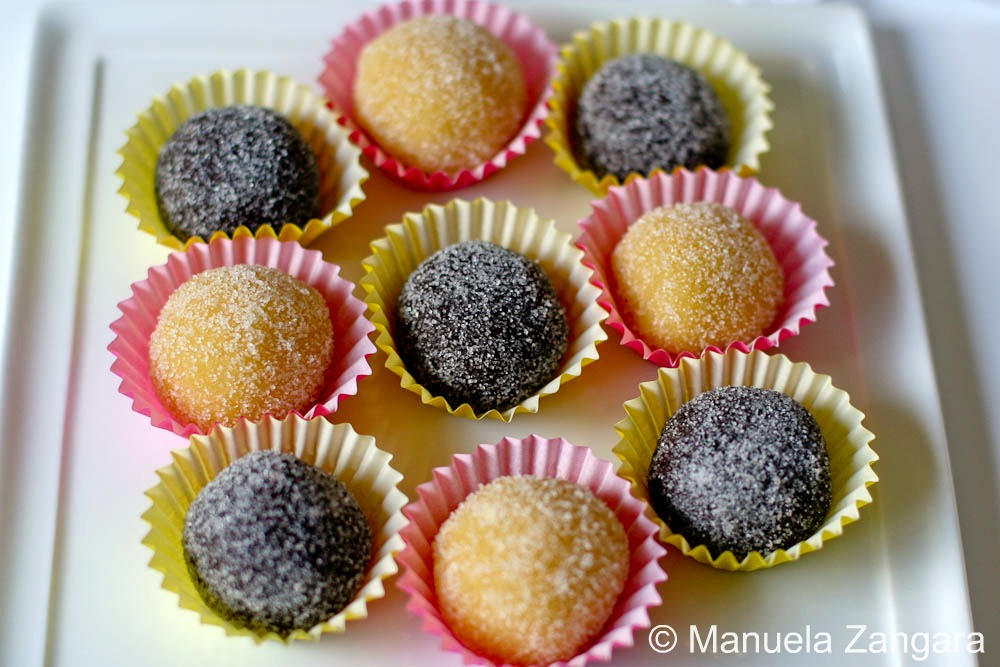 Orange and Chocolate Flavoured Marzipan Balls