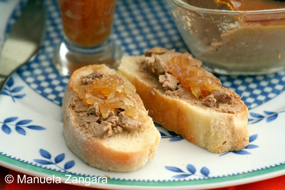 Duck liver paté and onion jam