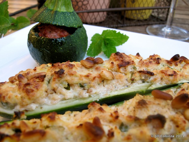 Corsican Stuffed Courgettes