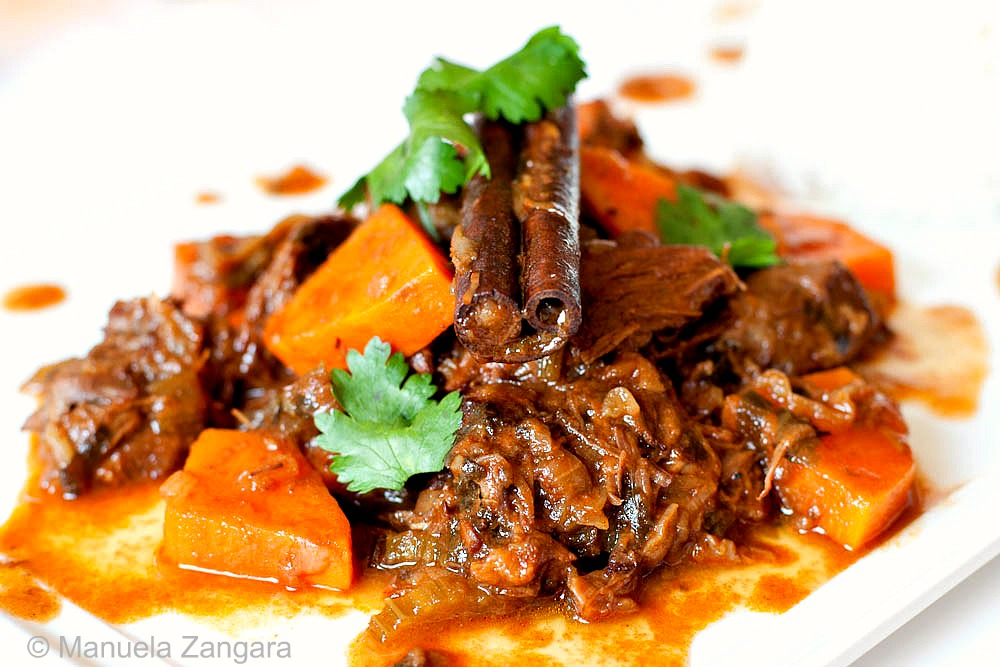Beef Braised in Rooibos Tea with Sweet Potatoes