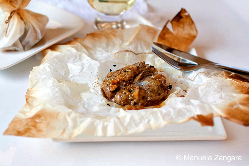 Chicken liver parcels