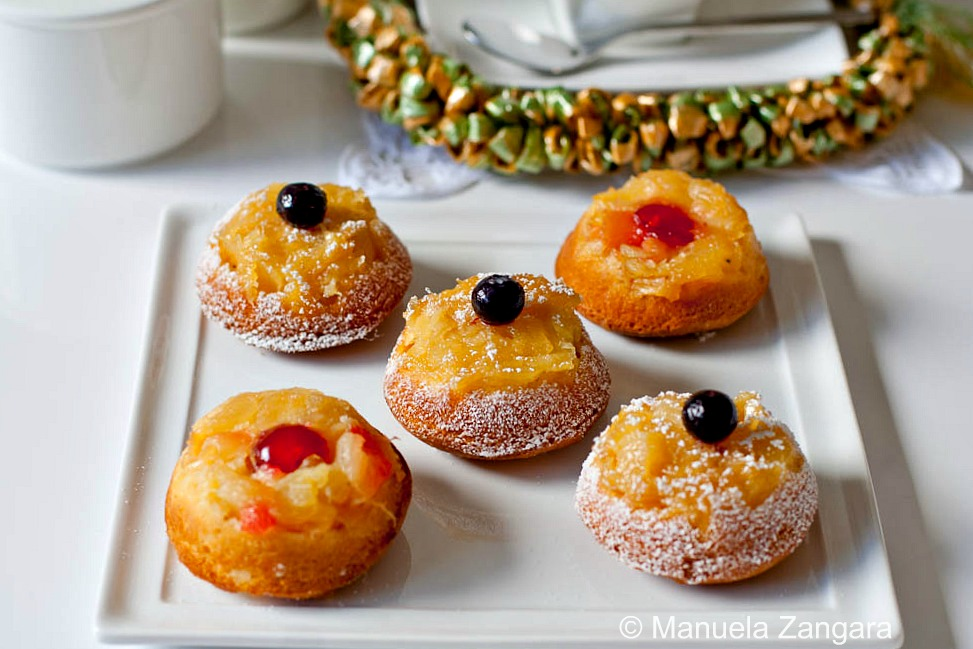 Pineapple Upside Down Tea Cakes
