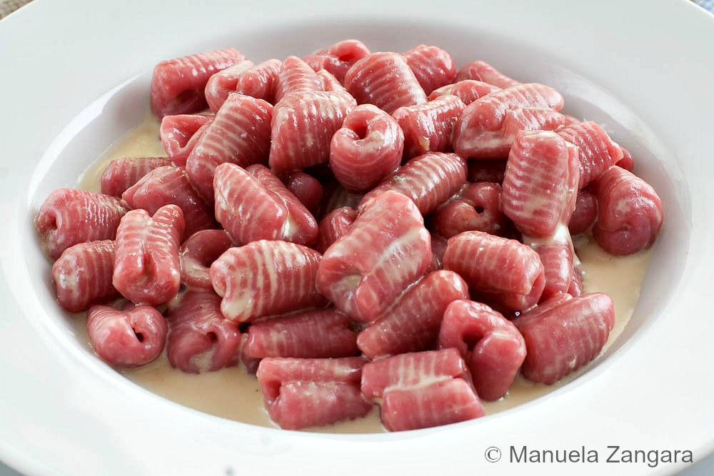 Beetroot and Ricotta Gnocchi with Gorgonzola