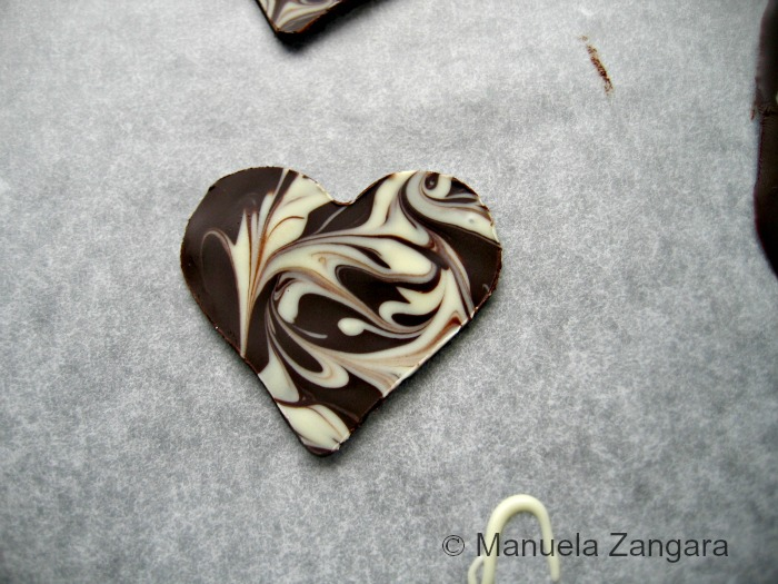 Marbled Chocolate Hearts
