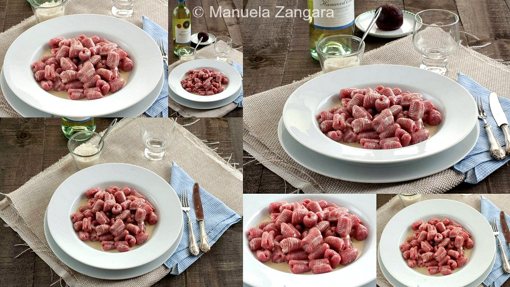 Beetroot and Ricotta Gnocchi with Gorgonzola