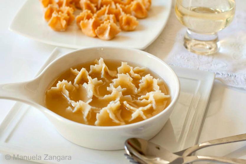 Parmigiano Reggiano Fagottini in Chicken Broth