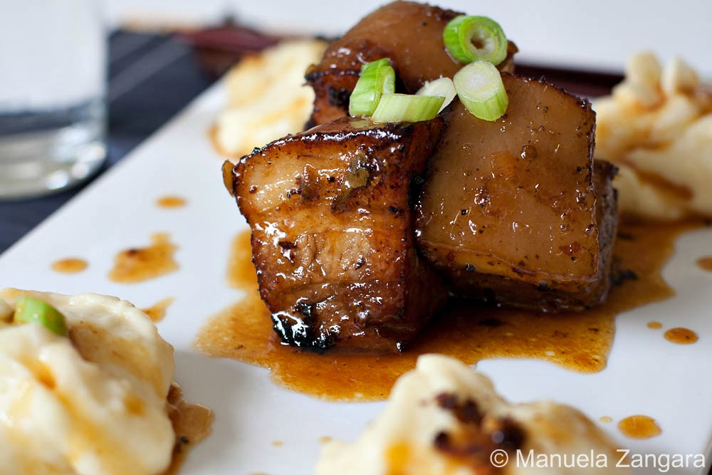 Braised Pork Belly with Caramel Miso Sauce