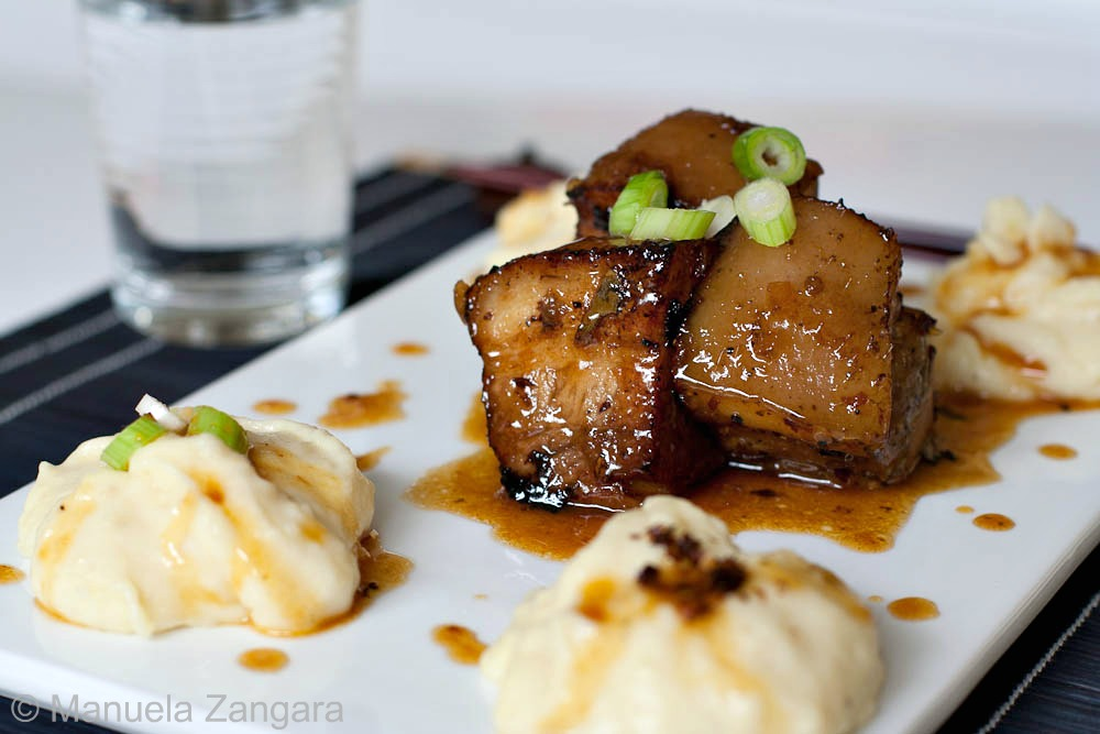... crispy spiced pork belly bowl steamed pork belly pulled pork belly
