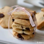 Coconut Chocolate Chip Shortbread Cookies