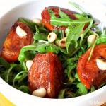 Roasted Tomato, Rocket and Macadamia Salad