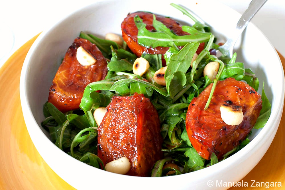 ROAST TOMATO, ROCKET AND MACADAMIA SALAD