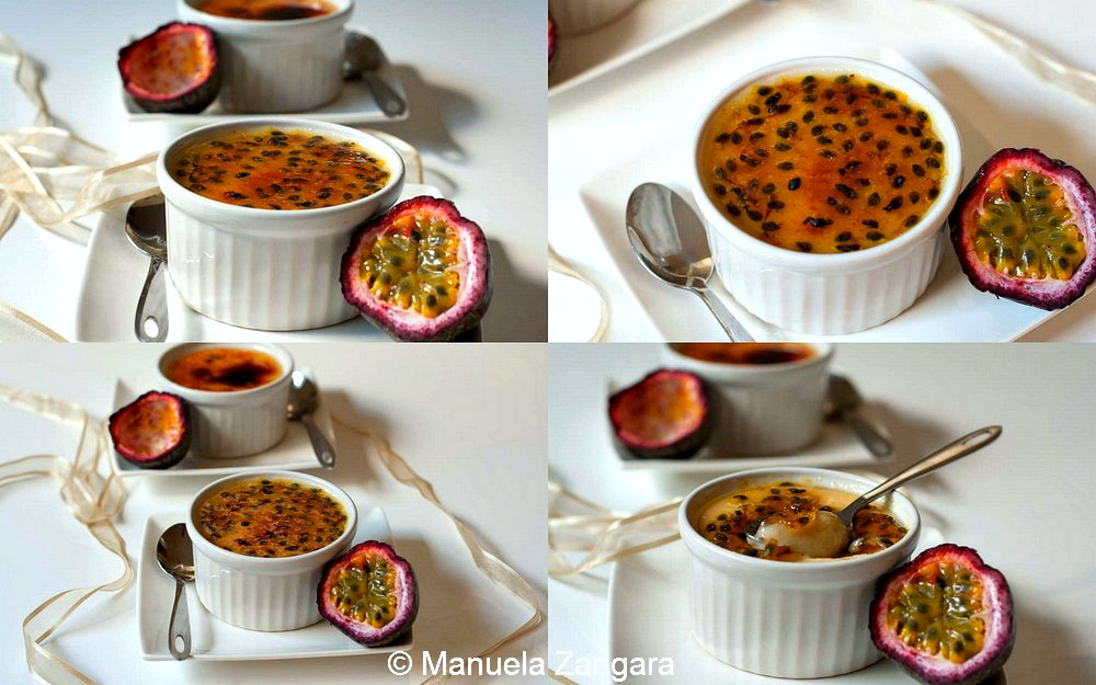 Passionfruit and Coconut Creme Brulee