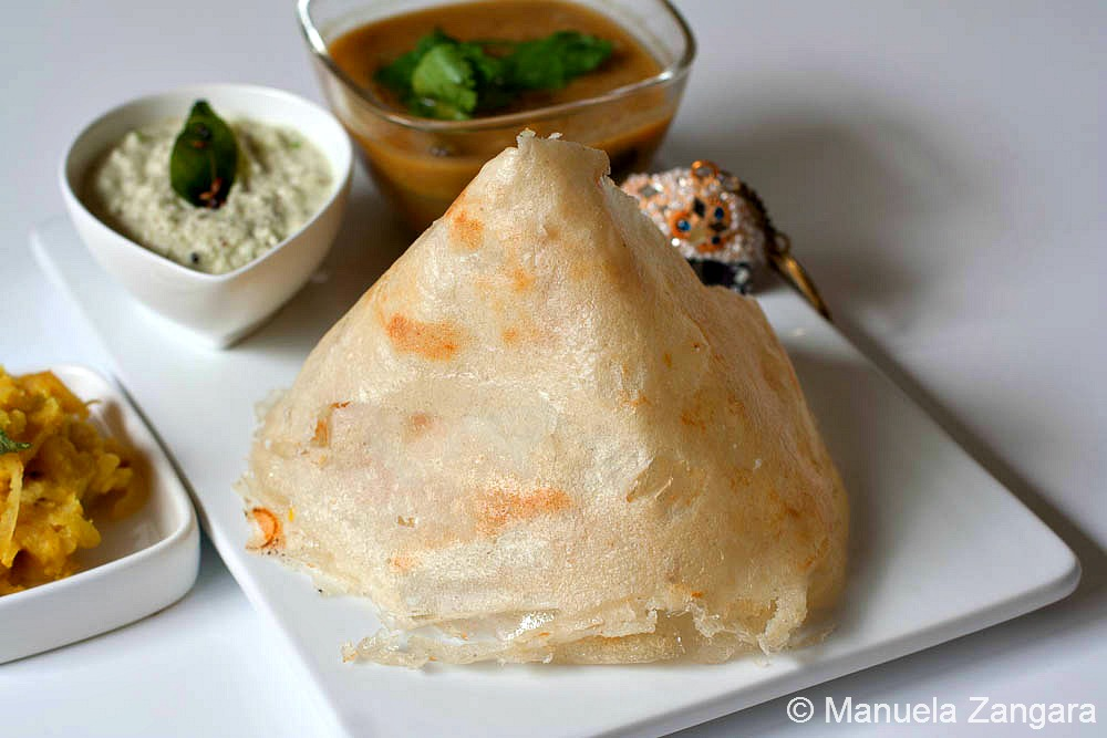 Dosa and Coconut Chutney