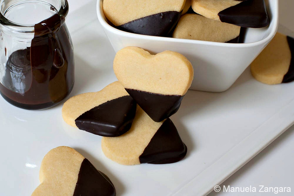 Shortbread and Chocolate Hearts