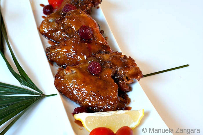 Raspberry Glazed Chicken Wings