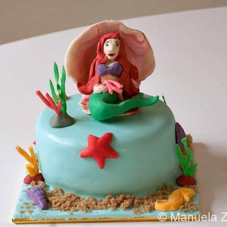 The Little Mermaid Fondant Cake