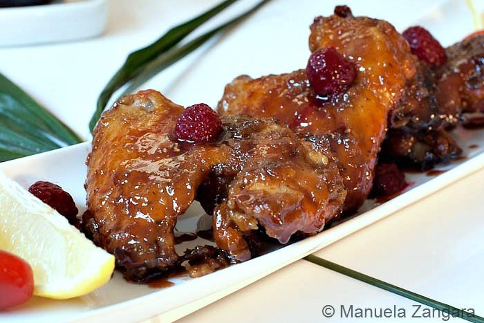 Raspberry Glazed Chicken Wings