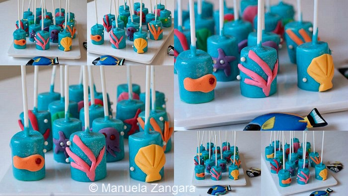 Sea Marshmallow Pops