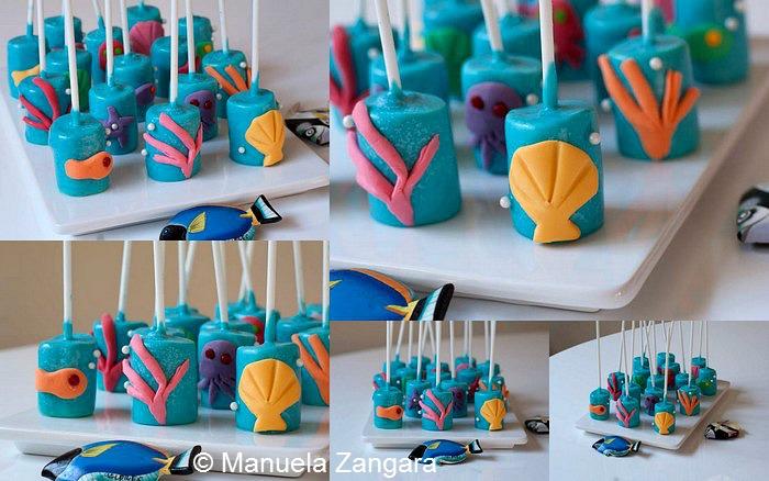 Sea Marshmallow Pops