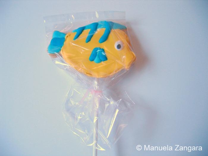 Flounder Shortbread Cookie Pops