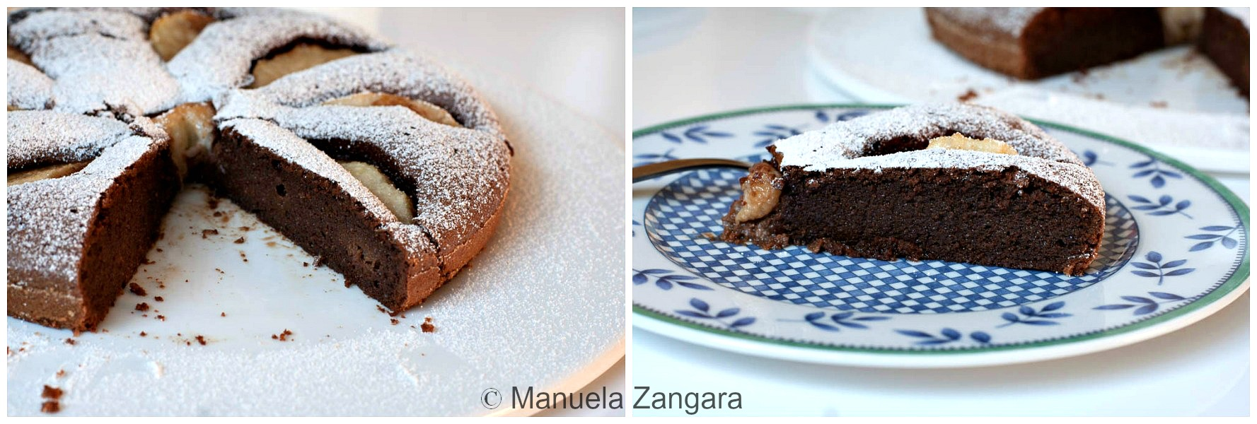 Flourless Chocolate and Pear Cake