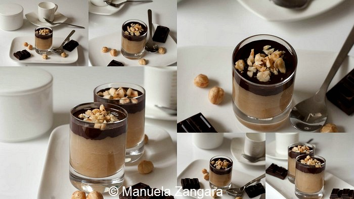 Maple Pear Mousse Shooters with Chocolate and Hazelnuts