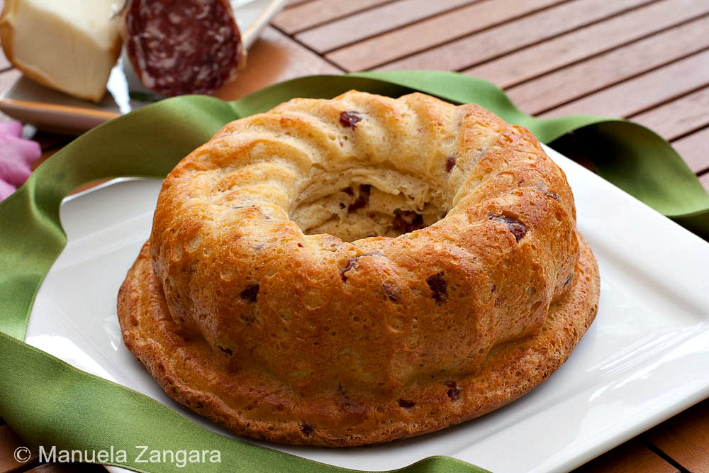 Salami and Smoked Scamorza Bundt Cake