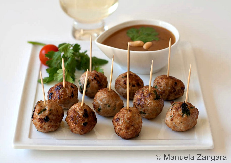 Pork Meatballs with Peanut Sauce