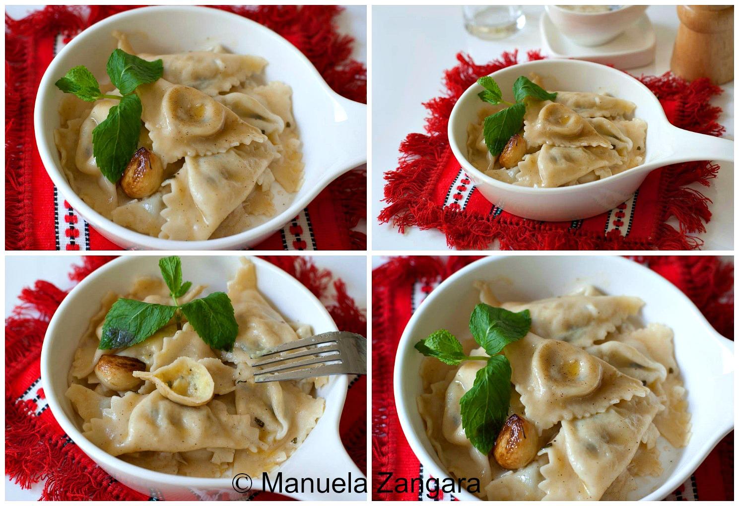 Mint & Potato Triangolini with burnt butter