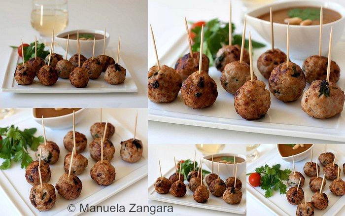 Pork Meatballs with Peanut Sauce