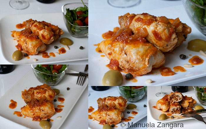 Swordfish Involtini in tomato sauce