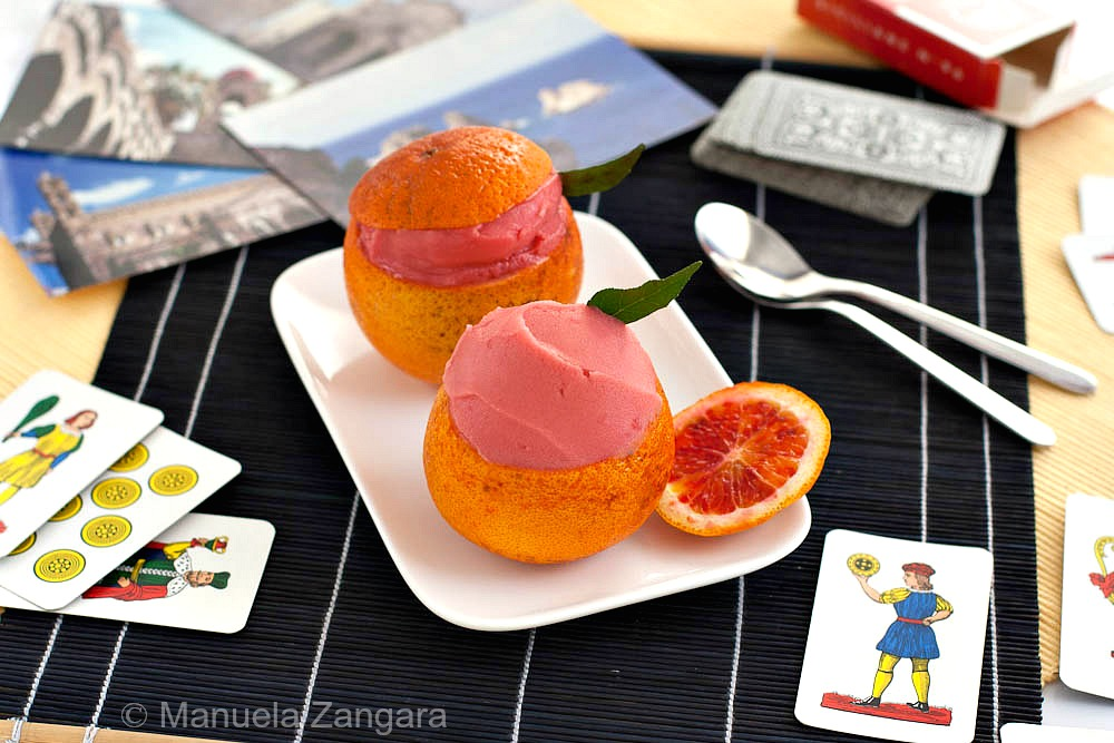 Mango-Lemongrass Ice Cream And Blood Orange Sorbet Recipe — Dishmaps