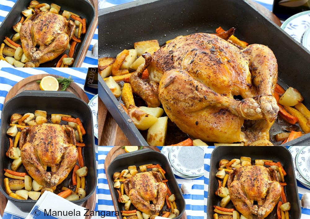 Roast Brined Chicken