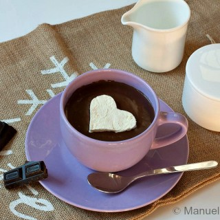 Italian style Hot Chocolate with Whipped Cream