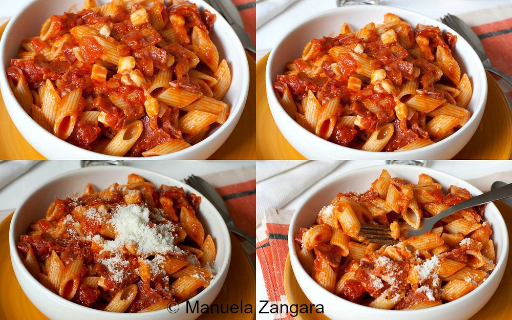 Penne with Salami and Provolone