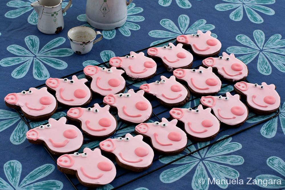 peppa pig chocolate cookies